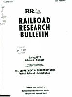 Railroad Research Bulletin PDF