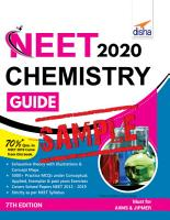 FREE SAMPLE  NEET 2020 Chemistry Guide   7th Edition PDF