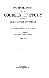 Course of Study for the High Schools of Oregon ...