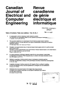 Canadian Journal of Electrical and Computer Engineering PDF