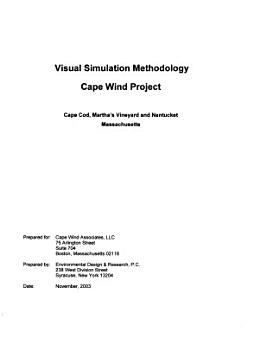 Cape Wind Energy Project PDF