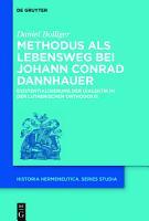 Methodus als Lebensweg bei Johann Conrad Dannhauer PDF