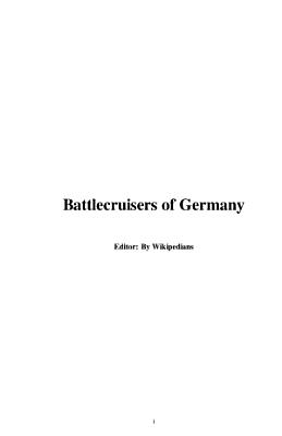 Battlecruisers of Germany PDF