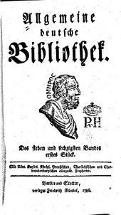Allgemeine deutsche Bibliothek: Band 67