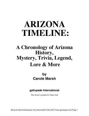 Arizona Timeline