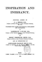 Inspiration and Inerrancy: Inaugural Address
