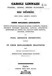 Systema, génera, species plantarum...