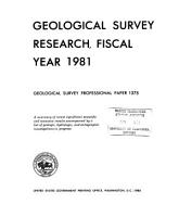 Geological Survey Research  Fiscal Year 1981 PDF