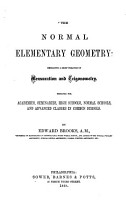 The Normal Elementary Geometry PDF
