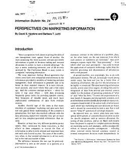 Perspectives on Marketing Information PDF