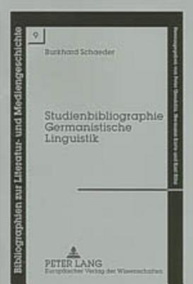Studienbibliographie Germanistische Linguistik PDF
