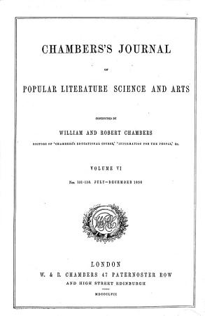 Chamber s Journal of Popular Literature  Science and Arts PDF