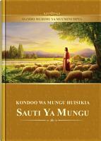 Kondoo wa Mungu Huisikia Sauti ya Mungu  Mambo Muhimu ya Muumini Mpya  PDF
