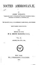 Noctes Ambrosianæ: Volume 5