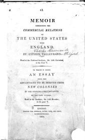 Memoir Concerning the Commercial Relations of the United States with England