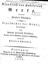 Urgeschichte der Römer: Bände 5-8
