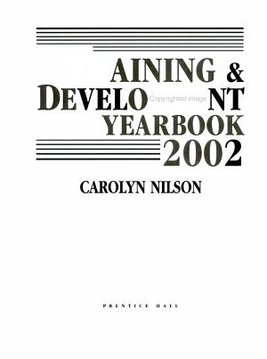Training and Development Yearbook 2002 PDF