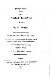 The Honest Thieves: A Farce