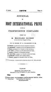 Journal du droit international: Volumes5à6