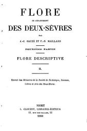 Flore du département de Deux-Sèvres: Flore descriptive. I,II.. Deuxième partie, Volume2