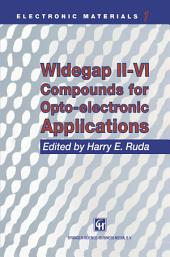 Widegap II–VI Compounds for Opto-electronic Applications