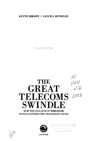 The Great Telecoms Swindle PDF