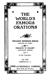 The World's Famous Orations: Volume 8