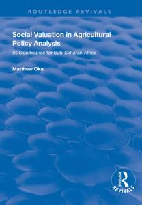 Social Valuation in Agricultural Policy Analysis PDF