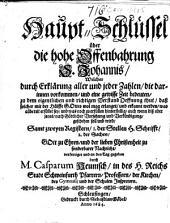 Haupt-Schlüssel über die hohe Offenbahrung S. Johannis