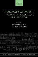 Grammaticalization from a Typological Perspective PDF