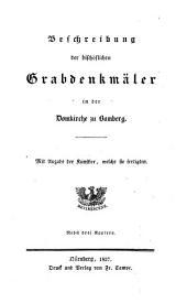 Beschreibung der bischöflichen Grabdenkmäler in der Domkirche zu Bamberg