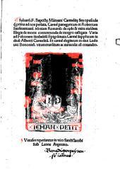Sylvarum F. Baptiste Mantuani Carmelite sex opuscula