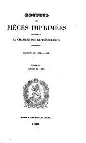 Recueil des pièces imprimées par ordre de la Chambre des Représentants: Volume2