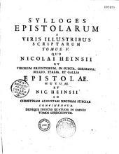 Sylloges epistolarum... a viris illustribus scriptarum tomi V collecti et digesti