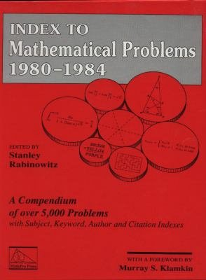 Index to Mathematical Problems  1980 1984 PDF