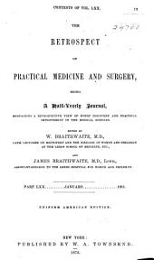 The Retrospect of Practical Medicine and Surgery: Volumes 70-71
