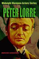 Peter Lorre  Midnight Marquee Actors Series  PDF