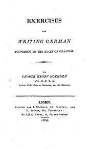 Exercises for Writing German According to the Rules of Grammar