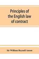 Principles of the English Law of Contract and of Agency in Its Relation to Contract PDF