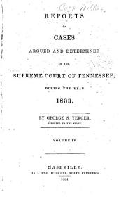 Reports of Cases Argued and Determined in the Supreme Court of Tennessee: Volume 12