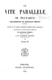 Le vite parallele di Plutarco: Volume 3