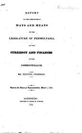 Report of the Committee on the Currency and Finances of the Commonwealth: Mr. Keating, Chairman