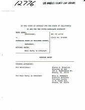 California. Court of Appeal (5th Appellate District). Records and Briefs: F012776, Appellant's Opening