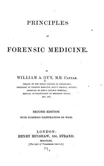 Principles of Forensic Medicine PDF