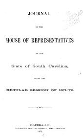 Journal of the House of Representatives of the State of South-Carolina