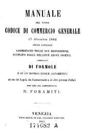 Manuale del nuova codice di commercio generale 17. Dicembre 1862