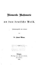 Bismarcks Mahnworte an das deutsche Volk