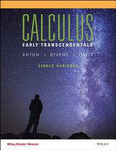 Calculus Early Transcendentals Single Variable, 11th Edition: Edition 11