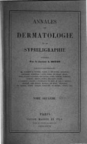 Annales de dermatologie et de syphiligraphie: Volume2