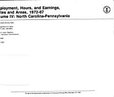 Employment  Hours  and Earnings  States and Areas  1972 87 PDF